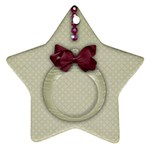 Christmas Ornament-star ornament (2 sides) - Star Ornament (Two Sides)