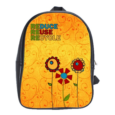 Recycle Backpack Lrg  By Albums To Remember   School Bag (large)   9kzdzvd2vjq3   Www Artscow Com Front