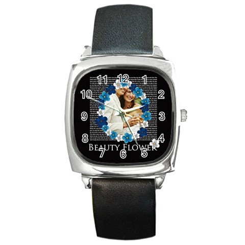 Wedding  By Joely   Square Metal Watch   Ctdpfwhj3y7w   Www Artscow Com Front