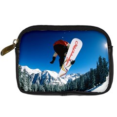 Snowboard Sport Airborne Digital Camera Leather Case