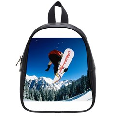 Snowboard Sport Airborne Small School Backpack