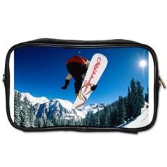 Snowboard Sport Airborne Toiletries Bag (two Sides)