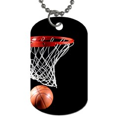 Basketball Hoops Dog Tag (one Side)