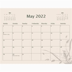 Cream Classic 2018 (any Year) Calendar By Deborah   Wall Calendar 11  X 8 5  (12 Months)   Iaf9qej5rn3r   Www Artscow Com May 2018