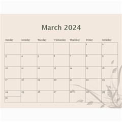 Cream Classic 2017 (any Year) Calendar By Deborah   Wall Calendar 11  X 8 5  (12 Months)   Iaf9qej5rn3r   Www Artscow Com Mar 2017