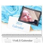 Roses for you (any Year) 2017 Calendar - Wall Calendar 11  x 8.5  (12-Months)
