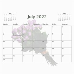 Roses For You (any Year) 2018 Calendar By Deborah   Wall Calendar 11  X 8 5  (12 Months)   5b8lrd35djoj   Www Artscow Com Jul 2018