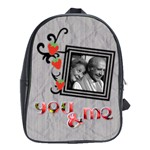 School bag large - YOU AND ME - School Bag (Large)