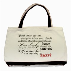 Happy By Stephanie   Basic Tote Bag (two Sides)   Prfbdzw08ovf   Www Artscow Com Front