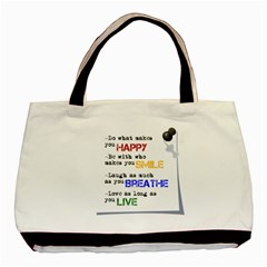 Happy By Stephanie   Basic Tote Bag (two Sides)   Prfbdzw08ovf   Www Artscow Com Back