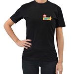 warped 2 - Women s Black T-Shirt (Two Sides)