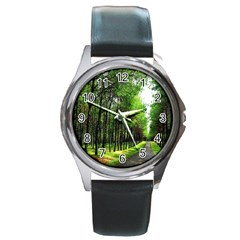 Land4 Round Metal Watch by designergaze