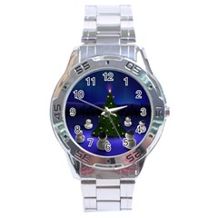 Xmas6 Stainless Steel Analogue Men's Watch by designergaze