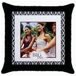wedding party - Throw Pillow Case (Black)