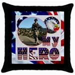 My Hero US Military Pillow Cushion Case - Throw Pillow Case (Black)