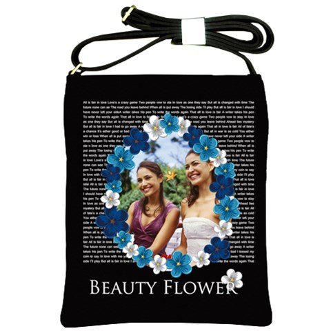 Flower Lady By Joely   Shoulder Sling Bag   2ycfi3lybj4z   Www Artscow Com Front