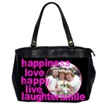 Happiness 2 sided Oversized Office Bag - Oversize Office Handbag (Two Sides)
