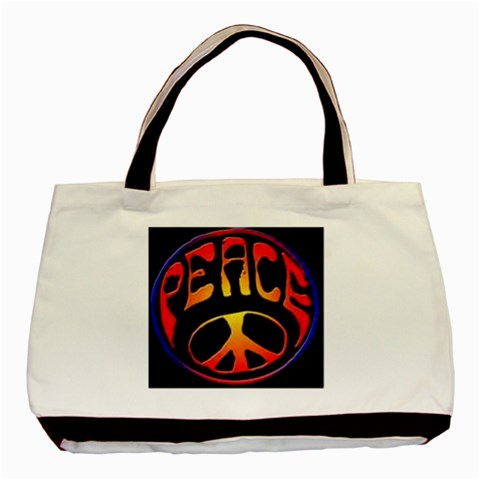 Peace2 By Kamryn   Basic Tote Bag   Xqdylwunwsx1   Www Artscow Com Front