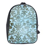 blue brown school bag - School Bag (Large)