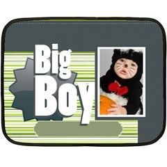 Big Boy By Joely   Double Sided Fleece Blanket (mini)   Dvs985mgbav4   Www Artscow Com 35 x27 Blanket Back
