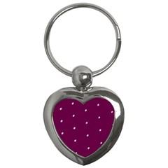 Purple White Dots Key Chain (heart) by PurpleVIP