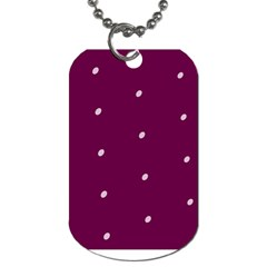 Purple White Dots Dog Tag (one Side) by PurpleVIP