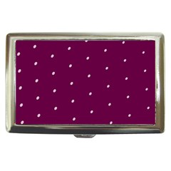 Purple White Dots Cigarette Money Case