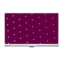 Purple White Dots Business Card Holder by PurpleVIP