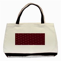 Purple White Dots Classic Tote Bag (two Sides)