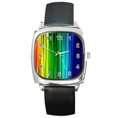 Cr1 Square Metal Watch