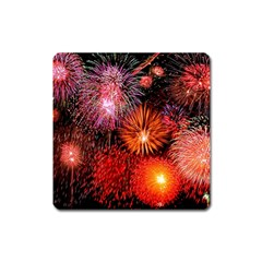 Fireworks Large Sticker Magnet (square)