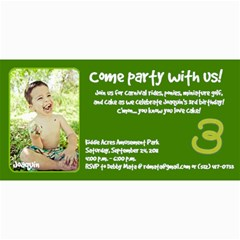 Joaquin Is Turning Three! By Debby Mata   4  X 8  Photo Cards   Ac8t9kz356ge   Www Artscow Com 8 x4 Photo Card - 2