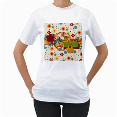 Celebrate May 2 Sided Womens Shirt 1 By Lisa Minor   Women s T Shirt (white) (two Sided)   Qde5fvp983xt   Www Artscow Com Front