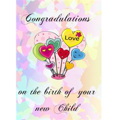 Congradulations On The Birth Of Your Child 1 By Kim Blair   Greeting Card 5  X 7    80va0pqs3spc   Www Artscow Com Front Cover