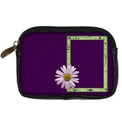 Lavender Essentials Camera Bag 1 By Lisa Minor   Digital Camera Leather Case   3uywllgewhr3   Www Artscow Com Front
