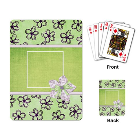 Lavender Essentials Playing Cards 1 By Lisa Minor   Playing Cards Single Design   H366mmmaefk4   Www Artscow Com Back