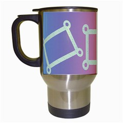 Rainbow Mug By Kimmy   Travel Mug (white)   Aml20e44m07d   Www Artscow Com Left
