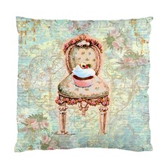 Cupcake and Chair Pillow Cover Cushion Case (Two Sides) by Fandangomoon