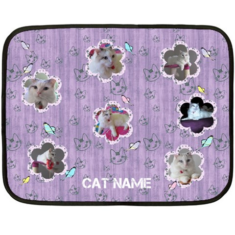 Cat Bed Blanket (mini) By Deborah   Fleece Blanket (mini)   7u8l89vspaet   Www Artscow Com 35 x27 Blanket