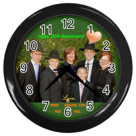 Muller Clock 2 By Esther   Wall Clock (black)   Gsw5cn5wbyqy   Www Artscow Com Front