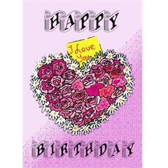 Happy Birthday 2 By Kim Blair   Greeting Card 5  X 7    Uq5qji6bs3qo   Www Artscow Com Front Cover