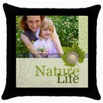 nature life - Throw Pillow Case (Black)