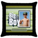 big boy - Throw Pillow Case (Black)