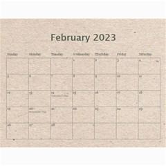 Fantasic Classic Neutral 2015 Calendar By Catvinnat   Wall Calendar 11  X 8 5  (12 Months)   0ilkbp3zvp1o   Www Artscow Com Feb 2015
