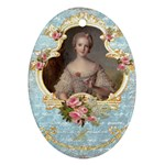 Young Marie Antoinette Portrait Oval Ornament (Two Sides)