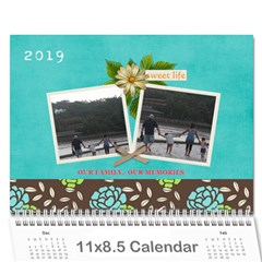 Calendar   Our Family Our Memories By Jennyl   Wall Calendar 11  X 8 5  (12 Months)   Piia8ty58xus   Www Artscow Com Cover