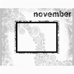 Faded Glory Monochrome 2015 Calendar By Catvinnat   Wall Calendar 11  X 8 5  (12 Months)   Q1d1acy2w5ub   Www Artscow Com Month