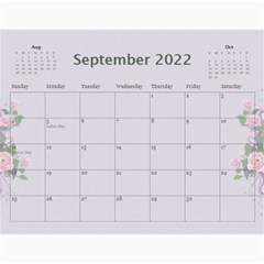 Pretty In Mauve 2018 (any Year) Calendar By Deborah   Wall Calendar 11  X 8 5  (12 Months)   G3eh9t30gsrw   Www Artscow Com Sep 2018