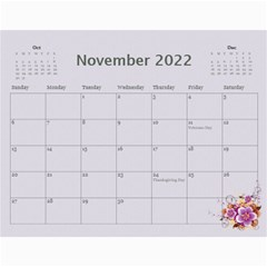 Pretty In Mauve 2018 (any Year) Calendar By Deborah   Wall Calendar 11  X 8 5  (12 Months)   G3eh9t30gsrw   Www Artscow Com Nov 2018