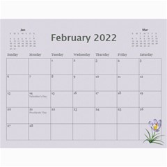 Pretty In Mauve 2018 (any Year) Calendar By Deborah   Wall Calendar 11  X 8 5  (12 Months)   G3eh9t30gsrw   Www Artscow Com Feb 2018